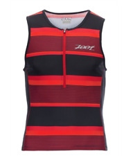 Zoot - Men's Performance Tri Tank - Race Day Red Stripe - Medium