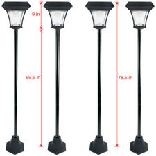 4 Pack 6.5 FT Solar Lamp Post Light w/ 2 SMD LEDs Street Vintage Path Deck Dual