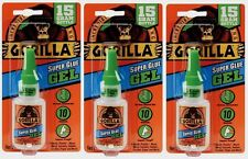 3 New!!! Gorilla Glue Super Glue Gel  .53oz Adhesive No Run Control 05242776