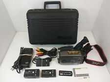 JVC Compact VHS GR-AX800U Video Camera Recorder VHS-C Bundle Camcorder