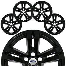 "4 fits 2020 Ford Explorer XLT Black 18"" Wheel Skins Full Rim Covers Hub Caps R18"