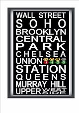 New york subway reproduction sign nyc subway signe broadway times square