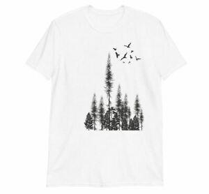 Pine Tree Forest Shirt - Forest T Shirt Mens Unisex. Screen Print T Shirt, Mens