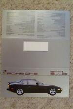 1987 Porsche 944 & 944-S Coupe Showroom Sales Folder / Brochure RARE Awesome