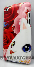 FOR IPOD TOUCH 4TH 4 TH 4G ITOUCH CASE CAT KITTEN KITTY ROSE BUTTERFLY RED PINK