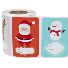 250Pcs Christmas Stickers Scrapbooking Seal Labels Tags for Xmas Gift Packaging