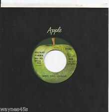 JOHN LENNON * 45 * Instant Karma * 1970 UNPLAYED STONE MINT Stereo * NOS Beatles