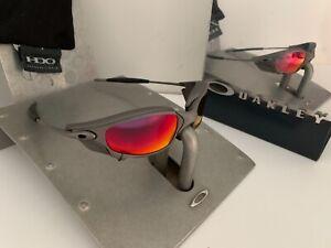 VINTAGE BEATIFUL OAKLEY JULIET X METAL RUby Iridium+SIDE BLINDERS Serial #24-125
