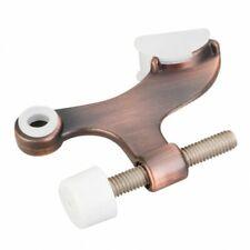Hinge Pin Door Stop w/ Self-Adjusting Pad  Brushed Bronze Door Stopper