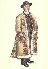 Saxon folk type from Transylvania Romania  costume Motis peasant Sibiu country