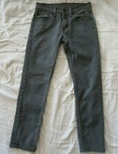 LEVIS 511 Skinny Men's 29 X 28 Medium Gray Cotton Blend Stretch Denim Jeans