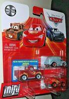 PIXAR CARS 2021 METAL MINI RACERS HOT ROD SMOKEY,RIVER SCOTT & McQUEEN 3 PK NEW!