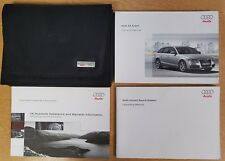GENUINE AUDI A4 AVANT HANDBOOK MANUAL WALLET 2008-2011 PACK D-109