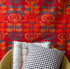 vintage 1960s Heals Pastoral Regina Moritz-Evers abstract floral cotton fabric