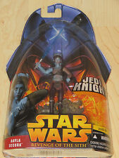 Star Wars Ep III # 32 Aayla Secura Jedi Knight w Lightsaber & Terrain Base NOSC