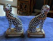 1976 Fitz And Floyd Staffordshire Dalmation Dog Figurines