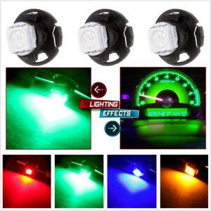 30 Pcs Car Panel Gauges Colorful T4.7 1-SMD 5050 Instrument LED Light Bulb Wedge
