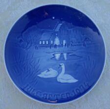 1974 Copenhagen Plate Christmas In The Village Denmark B&G Landsbyjul Ducks