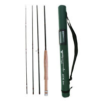 "Fishing Fly Rod 6'/6'6""- 4 Section Medium-Fast Carbon Fiber Fishing Rod"