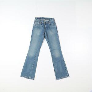 Levi's 529 Bootcut Usato (Cod.B460) W26 L32 jeans Vita Bassa Donna Denim Zampa