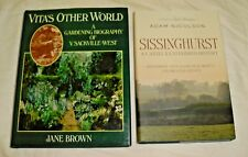 2 BOOKS GARDENING BIOGRAPHY VITA SACKVILLE-WEST/SISSINGHURST CASTLE HISTORY