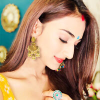Charm India Gold Silver Oxidized Stud Jhumka Indian Wpmen Drop Earrings Jewelry