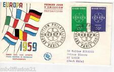1959 - ENVELOPPE-FDC 1°JOUR ** Conseil de l'Europe - Europa **TIMBRE Yt. 1218/19