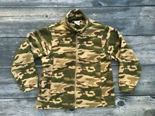 COLUMBIA Youth Boys Fleece Camo Jacket / Size 10 12 / Camouflage Green Hunting