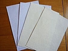 "Aida. 14 count. 7 x 5"".  2 white and 2 cream. New"