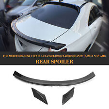 Rear Trunk Spoiler Boot Wing Fit for Mercedes Benz C117 CLA Class Carbon Fiber