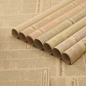 """10 Sheets Vintage Newspaper Gift Wrapping Paper 20""""x29"""""""
