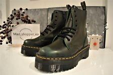 Dr. Martens Jadon Black / Green Platform Boots Vintage Leather UK 10 EU 45 US 11