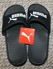 New! Mens Puma Cool Cat Slides Sandals/Shoes (Black/White; EUR 40.5) - Size 8