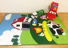 KIDS FARM LEARNING NON SLIP PLAY MAT RUG - 150x100cm Special Now