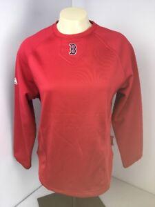 New NWT Boston Red Sox Majestic Women's Therma Base LS Shirt Sweatshirt Pullover