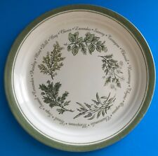 "Corelle Corning Thymeless Green Herbs Spices Dinner Plate 10"" Diameter"
