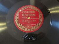 GENNETT 78 RECORD MITZI HAJOS CHRISTMAS GREETINGS MY CHRISTMAS WISH VAUDEVILLE