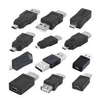 12 in 1 OTG Adapter Converter Kit USB 2.0 Male to Female Couplers Set .