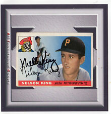 1955 Topps NELSON KING #112 Autograph *superb baseball card for set* TD98