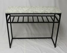 eHemco Console Sofa Table with Faux Marble Top and Wine Rack