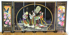 Beautiful imperial concubine banquet lacquer process small screen with