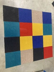 Patchwork Carpet Tiles Mixed Colours 40x40cm Great for Homes and Offices heavy
