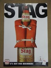 """Stag Beer Poster - """"Not for Beginners"""" Life Vest Theme"""