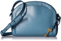 NWT Fossil Chelsea Crossbody Dark Turquoise Leather Shoulder Bag ZB7633967 $138