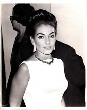 MARIA CALLAS Opera soprano photograph 1965 with byline about quitting US