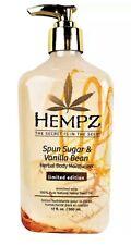 Hempz Spun Sugar & And Vanilla Bean Herbal Body Moisturizer Lotion 17oz