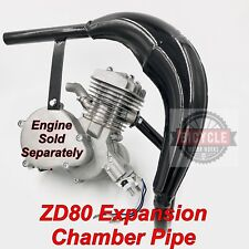 ZD80 (Zeda) Motorized Bicycle Expansion Chamber Pipe - BLACK