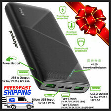 20000mAh Portable Charger External USB C Phone Battery Power Bank Fast Charging