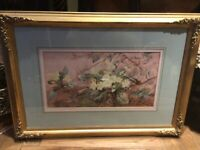 19th Century Signed Watercolour...A STUDY OF PRIMROSES...circa 1886