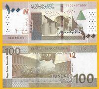 Sudan 100 Pounds p-new 2019 UNC Banknote